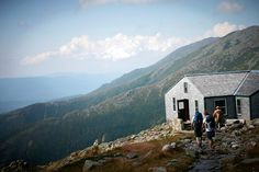 Appalachian Mountain Club Lakes of the Clouds Hut.