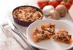 Gombás hústorta Quiche, Mashed Potatoes, Macaroni And Cheese, Muffin, Gluten, Pie, Vegan, Healthy, Breakfast