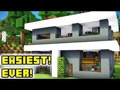 Http://minecraftstream.com/minecraft Tutorials/minecraft  Tutorial Easiest Modern House Build Ever/   Minecraft Tutorial: Easiest  Modern House Build Ever ...