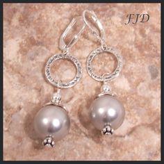 Swarovski Pearl and Sterling Silver Earrings