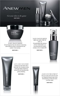 Anew | Men | AVON |Shop Avon for men and treat the man in your life with an exciting new skin-care... http://www.youravon.com/cbrenda007