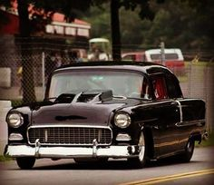 The best vintage cars hot rods and kustoms 1955 Chevy, 1955 Chevrolet, Chevrolet Bel Air, Chevrolet Corvette, Classic Hot Rod, Classic Cars, Classic Trucks, Hot Rods, Gta