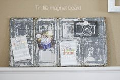 Tin Tile Magnet Board