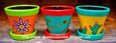 ABruxinhaCoisasGirasdaCarmita: Vasos pintados à mão