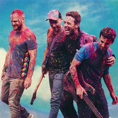 Coldplay. In Mumbai shooting for their video of A Head Full Of Dreams