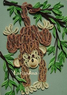 quilling  - monkey