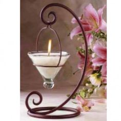 livingExclusive — Glowing Home — Hanging Votive Rustic Candle Holder Más Candle Lanterns, Candle Sconces, Chandelier Bougie, Support Bougie, Bougie Candle, Wrought Iron Decor, Rustic Candle Holders, Candle In The Wind, Iron Furniture