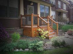 front wooden deck