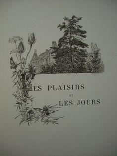 Les Plaisirs et les Jours, Marcel Proust - Dessin de Madeleine Lemaire (1896)