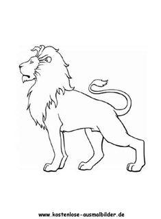 löwe ausmalbild 08
