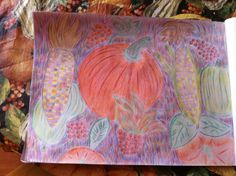 Harvest Time  Colored Pencil Drawing  By Creative Artistry Christina V Saunders