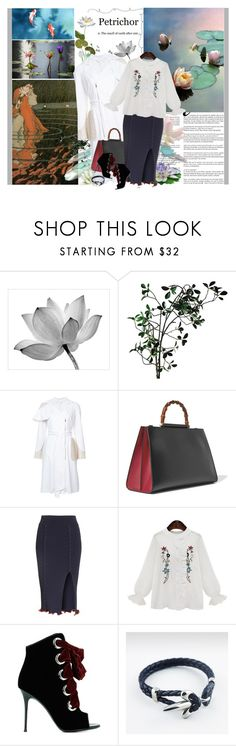 """The pond"" by valc5 ❤ liked on Polyvore featuring Whiteley, Pottery Barn, Abigail Ahern, Thomas Wylde, Gucci, Opening Ceremony and Giuseppe Zanotti"