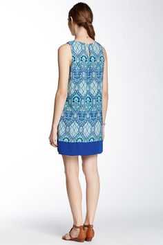 Sleeveless Printed Shift Dress by Pink Owl on @nordstrom_rack