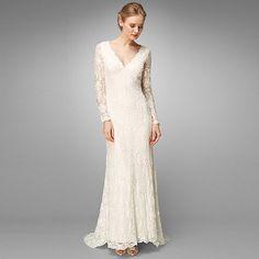 Phase Eight Ivory evelyn lace beaded wedding dress- at Debenhams.com