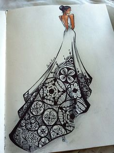 Zentangle in a dress