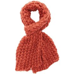 Charlotte Russe Cinnamon Chunky Open Stitch Scarf by Charlotte Russe... ($17) ❤ liked on Polyvore featuring accessories, scarves, cinnamon, charlotte russe, charlotte russe scarves, knit scarves, oblong scarves and woven scarves