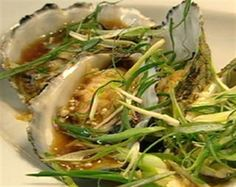 Try this Steamed Pacific Oysters with Mirin and Soy Sauce recipe by Chef Neil Perry. This recipe is from the show Food Source Asia. Recipes With Soy Sauce, Fish Recipes, Seafood Recipes, Asian Recipes, Cooking Recipes, Ethnic Recipes, Seafood Salad, Fish And Seafood, Steam Recipes