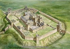 Poster Print-Sherborne Old Castle Poster sized print made in the USA Fantasy City, Fantasy Castle, Fantasy Map, Medieval Fantasy, Motte And Bailey Castle, Castle Illustration, Chateau Medieval, Photo Mug, Château Fort