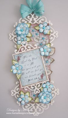12/25/2012; Marisa at 'Designs by Marisa' blog using Heartfelt Creations products; BEAUTIFUL!!