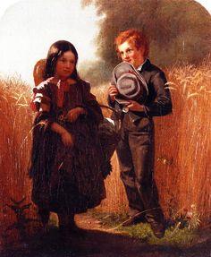 """Coming Thro' the Rye,"" 1860 -- by John George Brown (English-born American)"