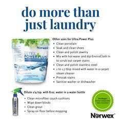 Norwex Powder Laundry Detergent is so versatile! Norwex Biz, Norwex Cleaning, Green Cleaning, Diy Cleaning Products, Cleaning Hacks, Norwex Products, Cleaning Challenge, Cleaning Crew, Cleaning Services