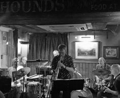Live jazz. Old Steam Train, Live Jazz, Blue Band, Jazz Blues, Music Bands, Musicals, Pencil, Ink, Black And White
