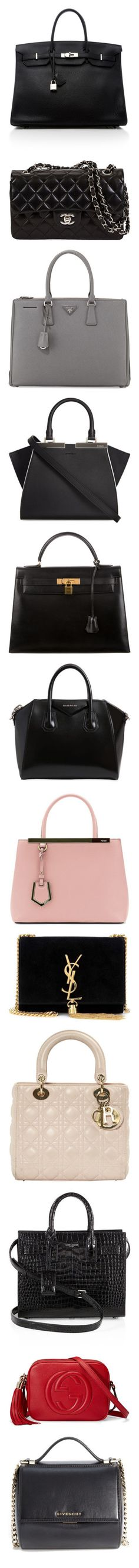 """Wishlist (bags)"" by itsmeambra ❤ liked on Polyvore featuring bags, handbags, black, real leather bags, leather purses, hermes handbags, genuine leather handbags, leather bags, home and home improvement"