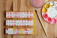 Give art for Valentine's Day. Watercolor sets with inserted messages.   warmhotchocolate.com