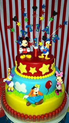 Mickey Mouse Clubhouse Birthday Party cake!  See more party ideas at CatchMyParty.com!