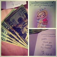 Aww this is what Jons mom gives me for watering her plants for 2 and a half weeks  #soocute #gettingrich Excited to triple your money as I did? Please click the link below and see how we I do it.