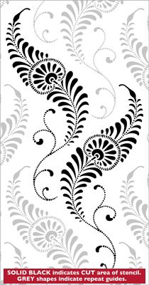 Tiffany stencil from The Stencil Library online catalogue. Buy stencils online. Stencil code VN60.