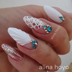 Try some of these designs and give your nails a quick makeover, gallery of unique nail art designs for any season. The best images and creative ideas for your nails. Seashell Nails, Nail Effects, Modern Nails, Perfect Nails, Perfect Pink, Super Nails, Nagel Gel, Stiletto Nails, Coffin Nails