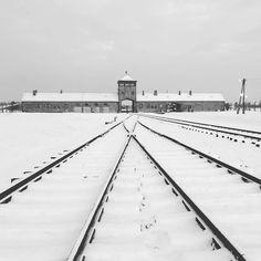 --- Photo by: @eloboreux --- Auschwitz II-Birkenau. Winter somehow brings out the architecture and geometry of suffering and death.
