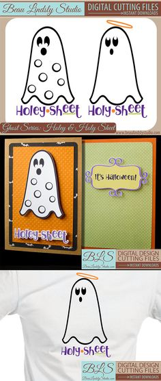 This entire series was designed to delight and is sure to result in unbridled laughter! It's perfect for an adult costume, this design has two different Ghosts and would make an easy couples costume! Easy Couples Costumes, Easy Diy Costumes, Adult Costumes, Silhouette Curio, Silhouette Cameo Projects, Sheet Ghost, Funny Ghost, Diy Adult, Funny Puns