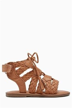 Buy Tan Ghillie Sandals (Younger Girls) from the Next UK online shop