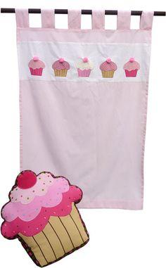Cupcake Kitchen Curtain