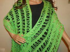 Stunning Lime Green Valentine's Day Shawl Wrap by Susieskorner, $46.00