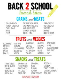 Print out this list of ideas and keep it on the fridge to stay inspired.