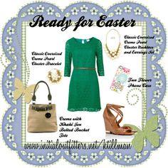 """""""Ready for Easter"""" by kelli-thornton-tillman on Polyvore  Shop Online:  www.initialoutfitters.net/ktillman  Find me on FB:  www.facebook.com/kellisinitialoutfitters"""