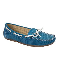 Take a look at the Blue Marseille Boat Shoe on #zulily today!