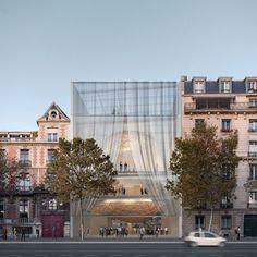 Shigeru Ban  .  Concert hall . Paris (1)