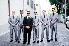 Dress your groom in a different color from his groomsmen!