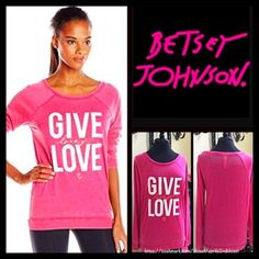 """❗️1-HOUR SALE❗️BETSEY JOHNSON Tunic Pullover Tee BETSEY JOHNSON Tunic Pullover Tee   NEW WITH TAGS  RETAIL: $58  * A relaxed fit & tunic length * Incredibly soft & comfortable slub jersey  * Graphic & logo print detail on front that is purposely subtly distressed * About 26"""" long. * Ballet neck & long raglan sleeves   Fabric: 52% polyester & 48% cotton Color: Pink White  Item:    No Trades/PAYPAL ✅ Offers Considered*✅ ✅ Bundle Discounts  ✅  T-shirt *Please use the blue 'offer' button to…"""