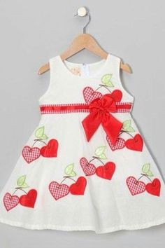980540e66a7 the Silly Sissy White   Red Gingham Cherry Heart A-Line Dress - Toddler    Girls