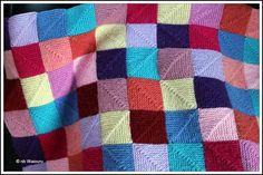 knitted blanket squares | Knitting Blankets