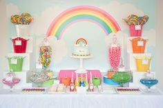 I love rainbow themed parties - fun and happy and a feast for the eyes!