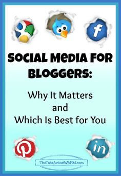 Social Media For Bloggers - Why Social Media matters, and how to find the right platform for you.    #Blogtips #socialmedia #Blogging