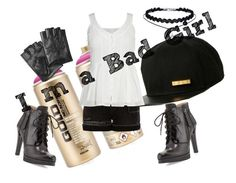 """Bad Girl"" by baileyem-1 on Polyvore featuring Neiman Marcus, Cult of Individuality, River Island and Karl Lagerfeld"