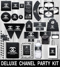 Deluxe Chanel Party Kit Chanel Party Favors by PlatinumGraphics