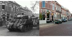 The Liberation of Arnhem +70 Stunning then and now pictures of a battered city. - http://www.warhistoryonline.com/war-articles/the-liberation-of-arnhem-then-and-now.html